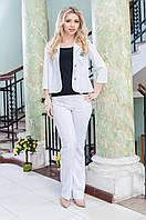 Женский пиджак белый рукав три четверти