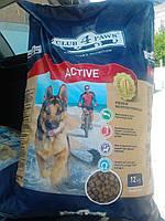 Клуб 4 лапы Корм для активных собак 12 кг