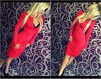 Элегантное платье с вырезом и длиной до колена (красный, черный) АР (Арт. 358)