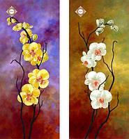 """Схема (диптих) для вышивки бисером """"Танцующие орхидеи"""""""