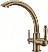 Смеситель для кухни с краном питьевой  Kaiser Vincent 31244-3, бронза, под фильтр
