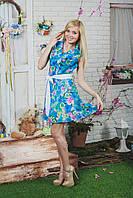 Платье шифон принт короткое, фото 1