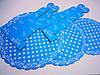 Подставка для торта 3-х ярусная картон.синий горошек(код 04127)