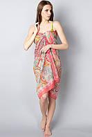 Пляжное женское парео в ярких контрастных расцветках, фото 1