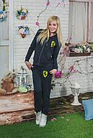 Спортивный костюм женский ferrari темно-серый, фото 1