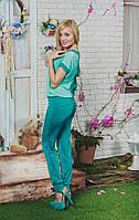 Костюм летний с брюками мята, фото 1