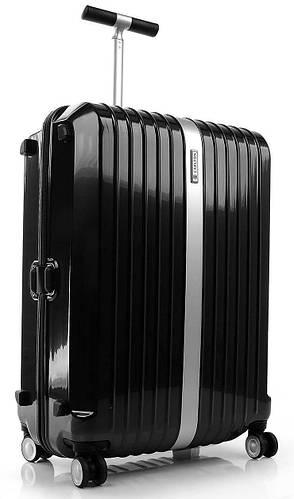 Вместительный малый пластиковый чемодан 40 л. Carlton Stark 227J455;01 черный