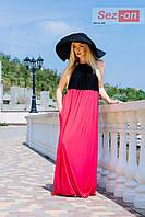 Платье - сарафан с открытой спиной - Малиновый