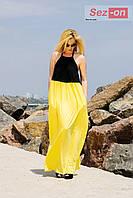 Платье - сарафан с открытой спиной - Желтый