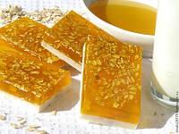 Овсяно-медовое мыло с молоком (янтарь, солнце)