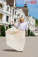 Платье юбка с открытой спиной - Бежевый