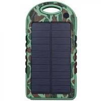 Зарядное устройство от солнца Solar Power Bank 5000mAh (YD T011). Хаки