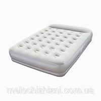 Надувная велюр-кровать с подголовником и встроенным насосом (Арт. 67459)