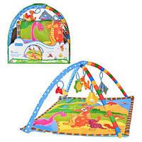 Детский развивающий коврик+80-80см, дуги с подвесками 5шт (Арт. 2124)