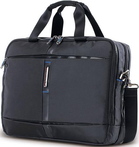 Деловая тканевая сумка для ноутбука и документов CARLTON Wallstreet: 904J027;01 черный