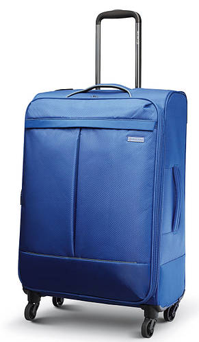 Средний вместительный четырехколесный чемодан 61/74 л. Carlton Vayu 090J468;04 кобальт (голубой)