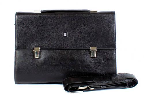 Портфель кожаный мужской Excelente E6683-black черный