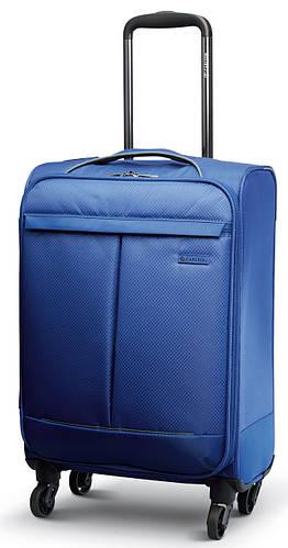 Прочный малый чемодан 30 л. 4-х колесный Carlton Vayu 090J455;04 кобальт (голубой)