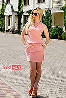 Платье летнее без рукавов - Розовый