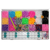 Набор для плетения Rainbow Loom Bands 5000 резиночек в пластиковом боксе