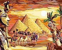Раскраска по номерам 40 × 50 см. Загадочный Египет