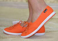Мокасины женские оранжевые