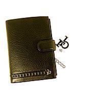 Портмоне, документница мужская кожаная  RoccoBarocco 47005 отделы для паспорта, прав
