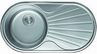 Мойка кухонная Cristal UA7107ZS (ROMA PLUS) круглая c полкой (кепка) 840х440х180 SATIN