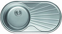 Мойка кухонная Cristal UA7107ZS (ROMA PLUS) круглая c полкой (кепка) 840х440х180 Decor