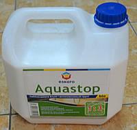 Антиплесневая  укрепляющая водно-дисперсионная грунтовка-концентрат 1:3 Aquastop Bio Eskaro 3 л