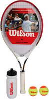 Набор для большого тенниса Wilson ( ракетка+2 мяча+ бутылка для воды) WRT298000