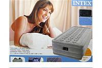Надувные кровати Intex Ultra Plush Twin 67952 со встроенным насосом 220 В  (99 x 191 x 46 см)