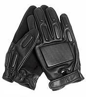 Тактические перчатки кожаные с защитными вставками MilTec Black 12501002