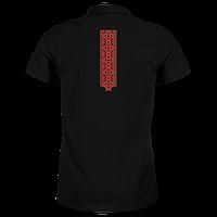 Мужская футболка поло вышиванка - футболка с украинской вышивкой