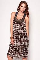 Платье шифоновое, цвет леопард