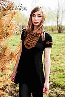 Жіноча туніка - Мережка оранж - короткий рукав