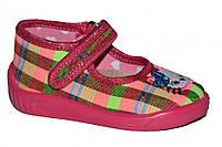 Детские летние тапочки для девочки (Розовые в клетку)