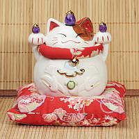Манэки-нэко «Богатство, здоровье и любовь», малый с коллекции