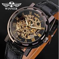 Наручные механические часы WINNER Grey hollow