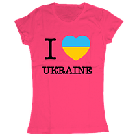 Женская футболка с принтом I love Ukraine