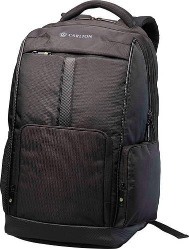 """Практичный стильный рюкзак с отделением для ноутбука до 17"""" и планшета CARLTON Hampton 915J120;01 черный"""