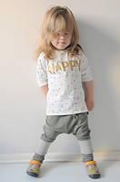 Легкие штаны с заниженной матней. Унисекс. Размеры: 86, 92 см