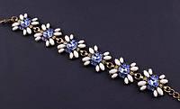 Изящный браслет с синими камнями
