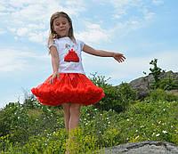 Юбка пачка для девочек красная