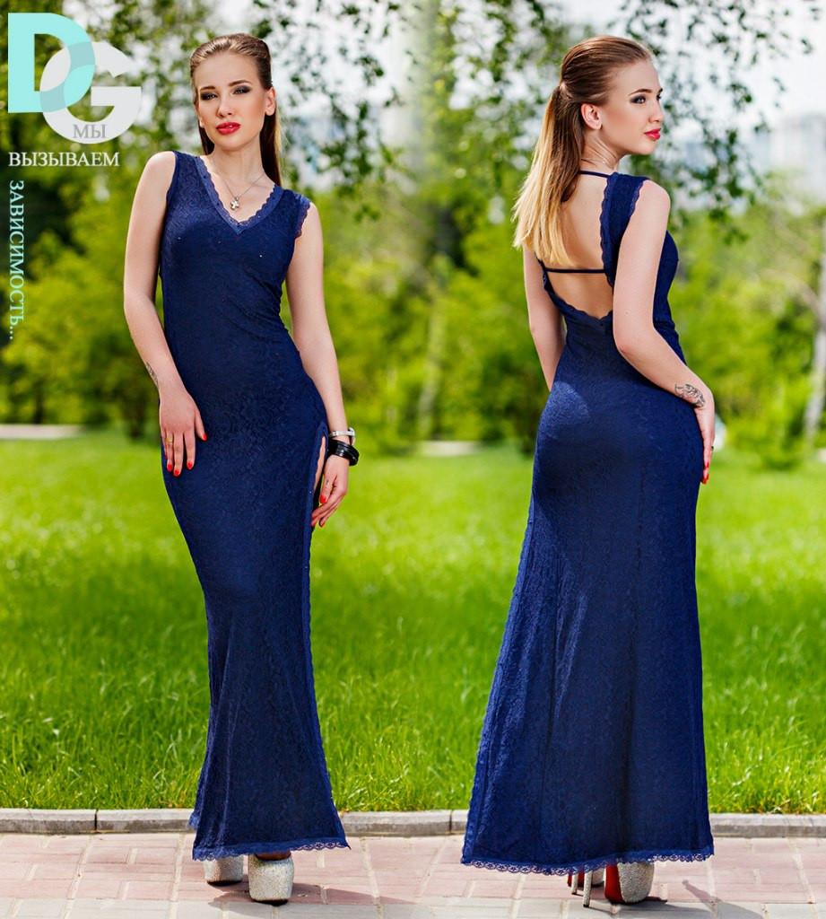 Открытая спина платье