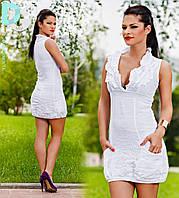 Платье летнее  Лён глубокий вырез 2984 (Гл)