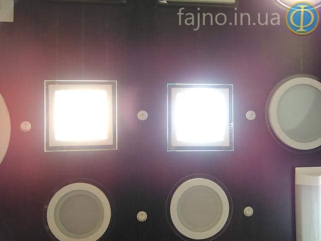 Квадратный светодиодный встраиваемый потолочный светильник Bellson Glass