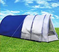 Палатка туннель Abarqs King-6A, клеенные швы,тамбур,6 человек