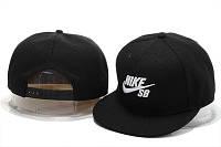 Кепка с прямым козырьком Nike SB Snapback черные