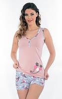 Женская летняя пижама/ костюм для дома Майка+шорты Onurel 916
